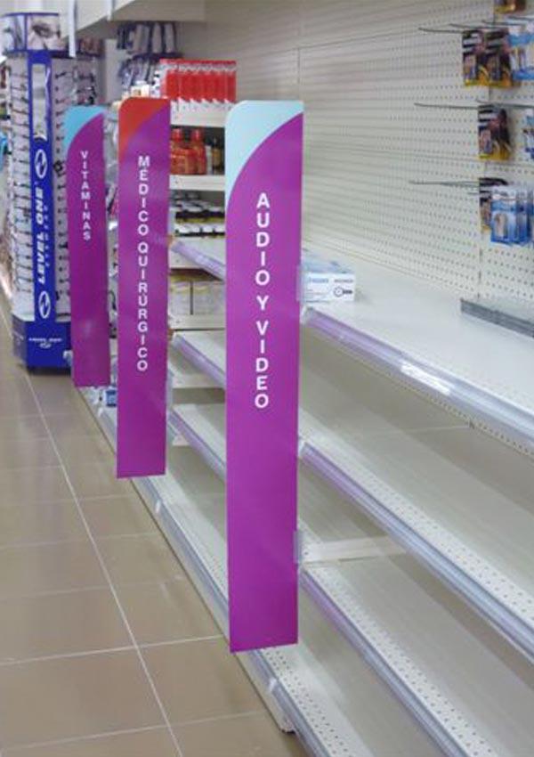 Anaqueles para tiendas